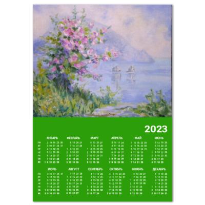 Календарь Цветущий куст у Медведь горы