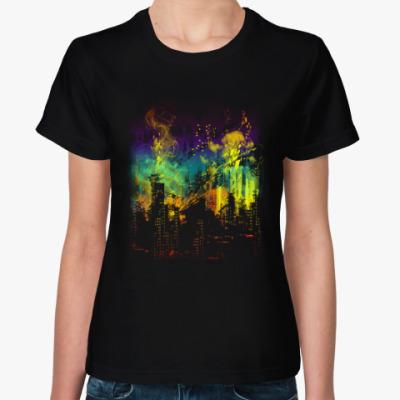 Женская футболка Городская абстракция