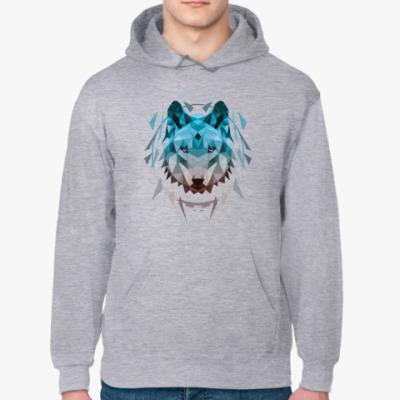 Толстовка худи Геометрический Волк
