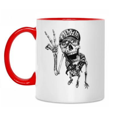 Кружка Thrash-скелет