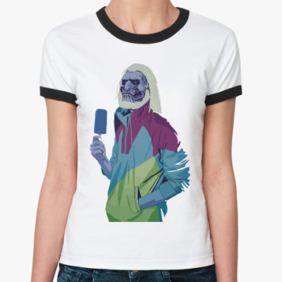 Женская футболка Ringer-T White Walker Ice Cream