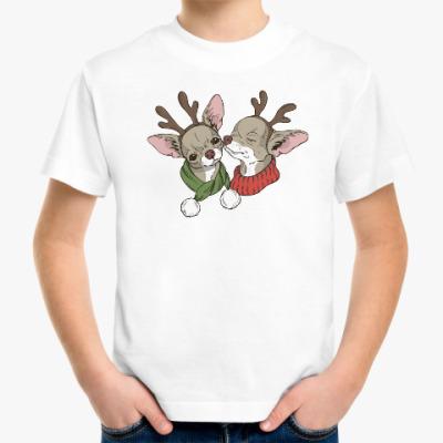 Детская футболка собачки в новогодних костюмах