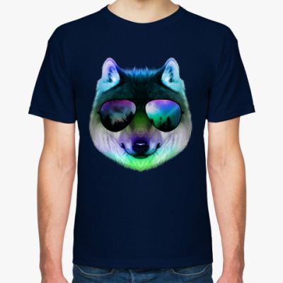 Футболка Волк в очках