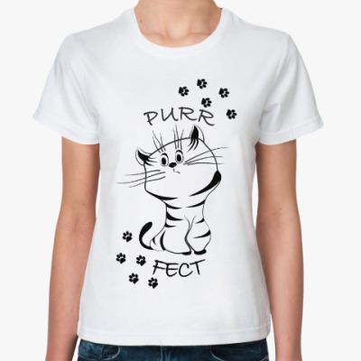 Классическая футболка Purrfect