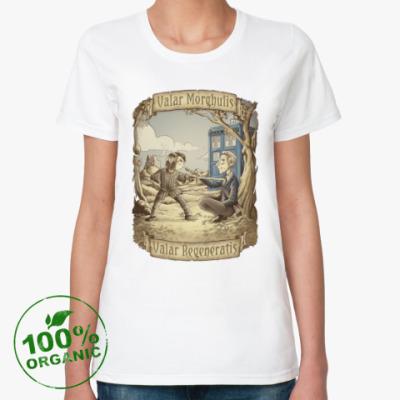 Женская футболка из органик-хлопка Регенерация