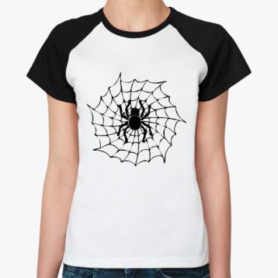 Женская футболка реглан Spider