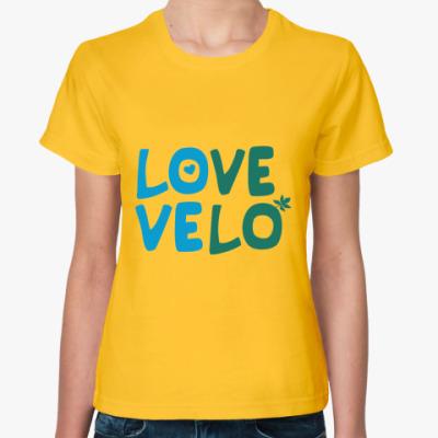 Женская футболка Love velo