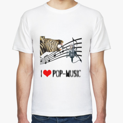 Футболка 'I Love Pop'