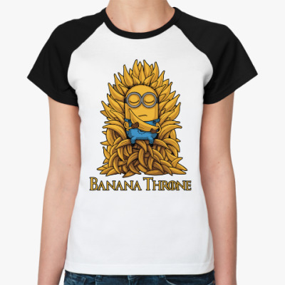 Женская футболка реглан Banana Throne