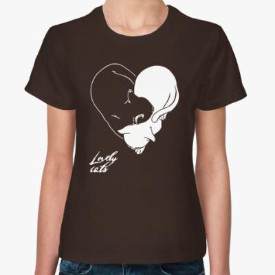 Женская футболка Lovely Cats