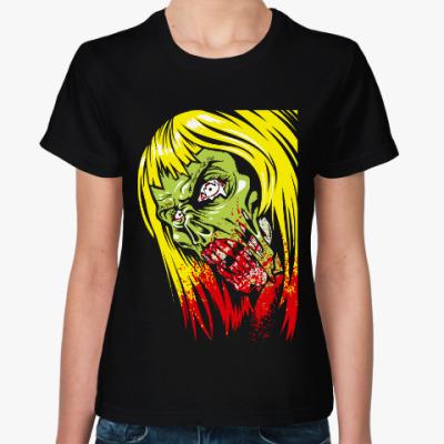 Женская футболка Зомби