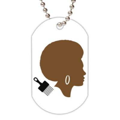 Жетон dog-tag Afro Lady