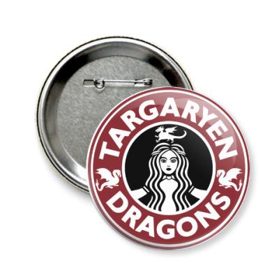 Значок 58мм Драконы Таргариен