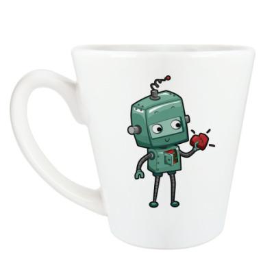 Чашка Латте Робот с сердцем