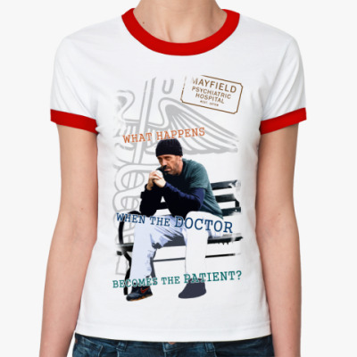 Женская футболка Ringer-T Хаус псих