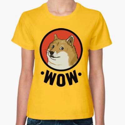 Женская футболка Лайка WOW