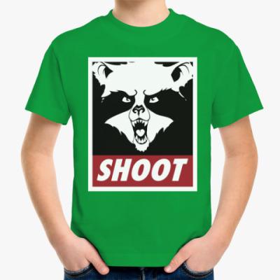 Детская футболка Raccoon Shoot