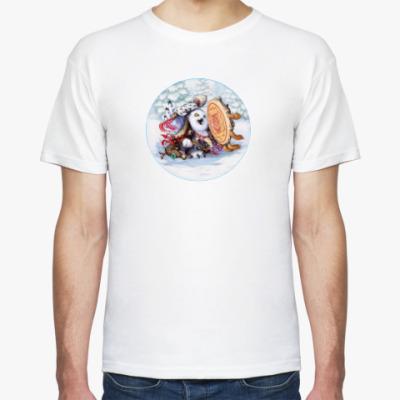 Футболка Сова - сибирский шаман