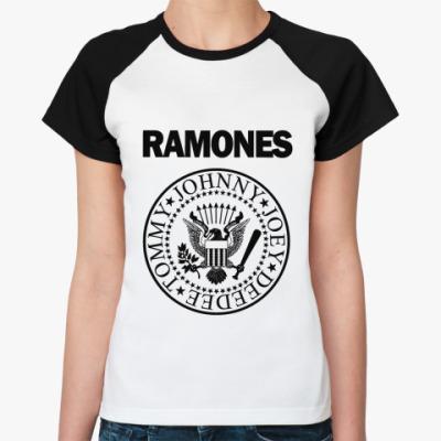 Женская футболка реглан Ramones pr  Ж()