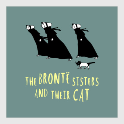 Постер The Bronte Sisters and their cat