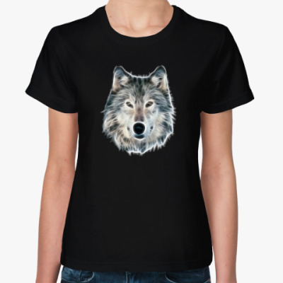 Женская футболка Волк