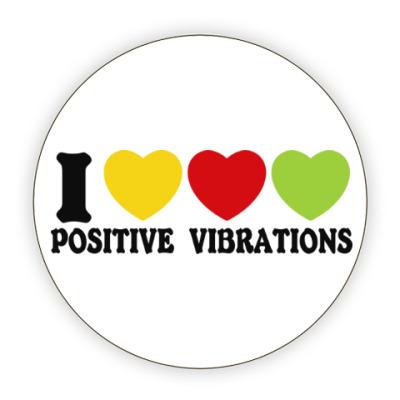 Костер (подставка под кружку) Люблю позитивные вибрации