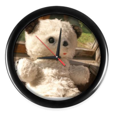 Настенные часы Осенний медвежонок