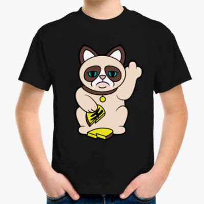 Детская футболка Tard Grumpy Cat Maneki Neko