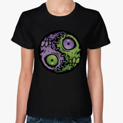 Женская футболка Зомби инь-ян