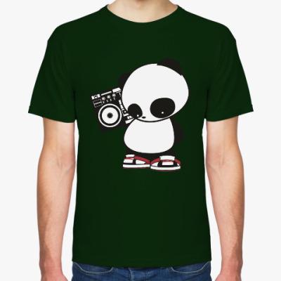 Футболка Панда с магнитофоном