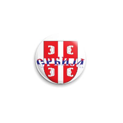 Значок 25мм Сербский щит