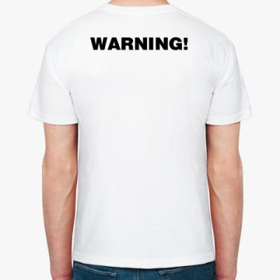 Футболка  warning