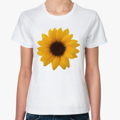 Классическая футболка Подсолнух