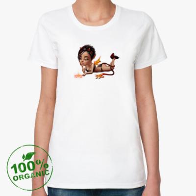 Женская футболка из органик-хлопка Чертовка