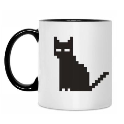 Кружка Пиксельный котик