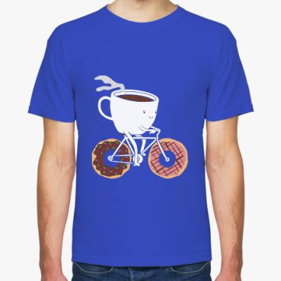 Футболка Печеньки, кофе, велосипед