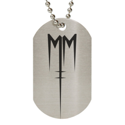 Жетон dog-tag Marilyn Manson