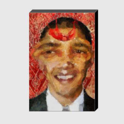 Холст Стрекоза: Барак Обама