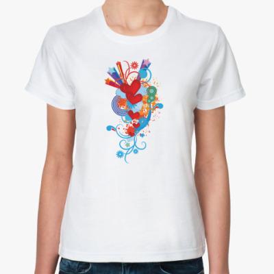 Классическая футболка  Любовь поп-арт