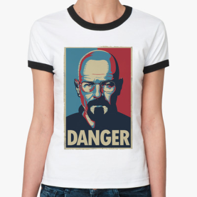 Женская футболка Ringer-T Walter danger