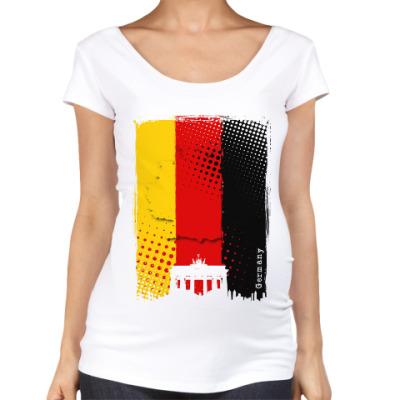 Футболка для беременных Сердце Германии в одной палитре