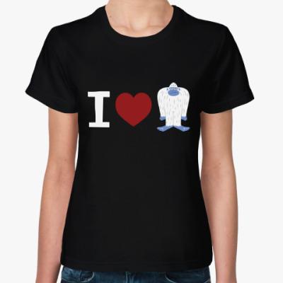 Женская футболка Люблю Йети