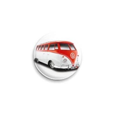 Значок 25мм  VW mini van
