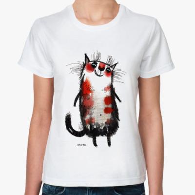 Классическая футболка кошка Белка