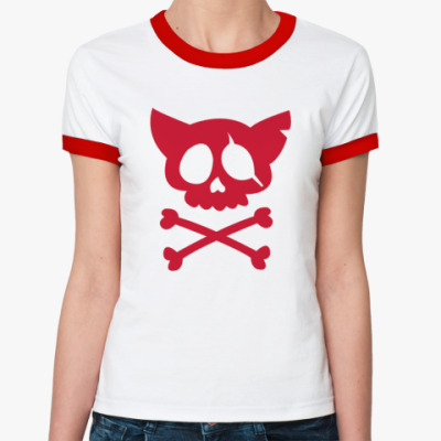 Женская футболка Ringer-T пираты
