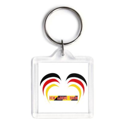 Брелок Я люблю тебя по-немецки