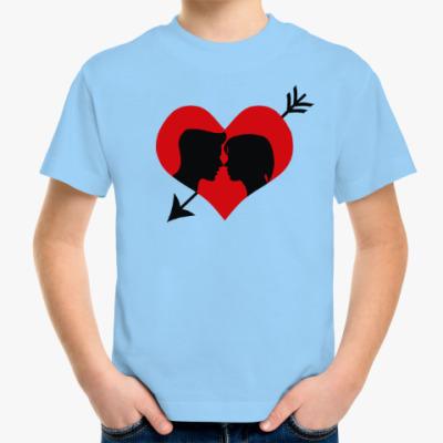 Детская футболка Сердце хочет любви
