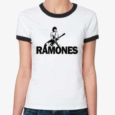 Женская футболка Ringer-T Ramones j  Ж()