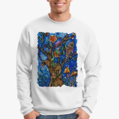 Свитшот Сова в волшебном лесу