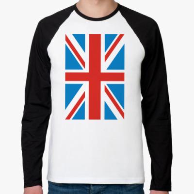 Футболка реглан с длинным рукавом  Британский флаг